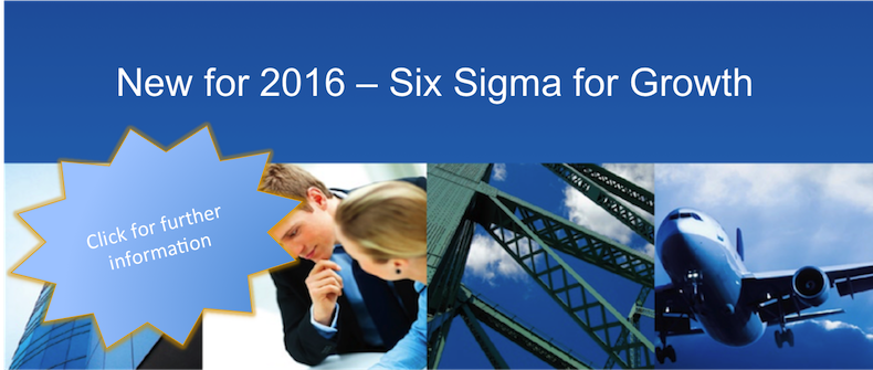 New for 2016 - Six Sigma for Growth